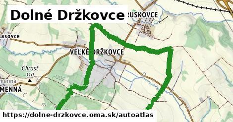 ikona Mapa autoatlas  dolne-drzkovce