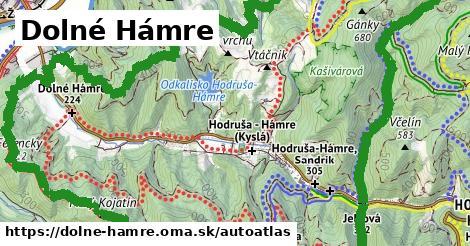 ikona Mapa autoatlas  dolne-hamre