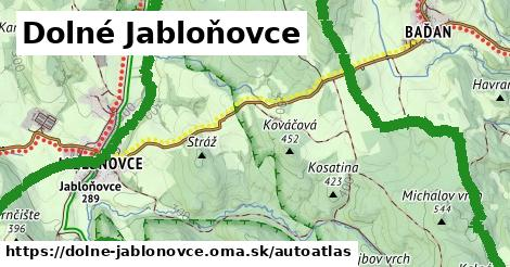 ikona Mapa autoatlas  dolne-jablonovce