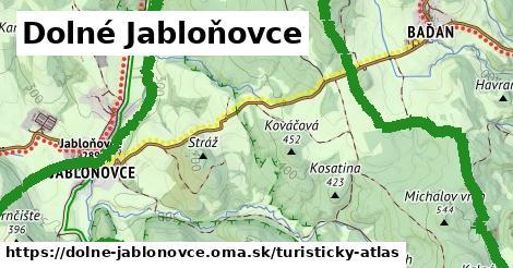 ikona Dolné Jabloňovce: 1,52km trás turisticky-atlas  dolne-jablonovce
