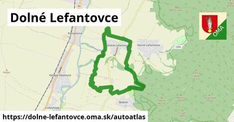 ikona Mapa autoatlas  dolne-lefantovce