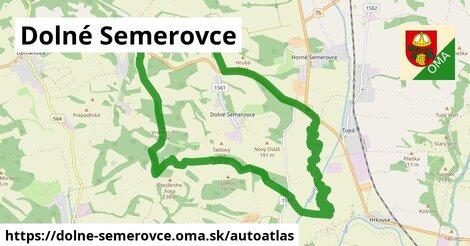 ikona Mapa autoatlas  dolne-semerovce