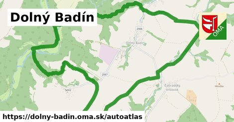 ikona Mapa autoatlas  dolny-badin