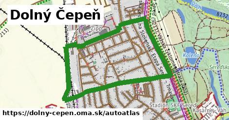 ikona Mapa autoatlas  dolny-cepen