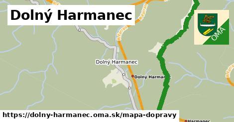 ikona Dolný Harmanec: 10,7km trás mapa-dopravy  dolny-harmanec