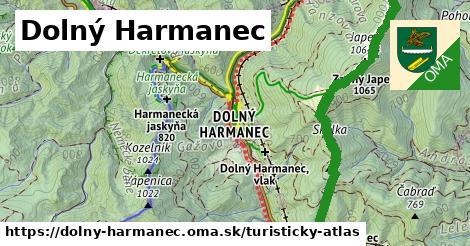 ikona Dolný Harmanec: 82km trás turisticky-atlas  dolny-harmanec