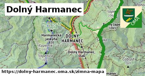 ikona Dolný Harmanec: 19km trás zimna-mapa  dolny-harmanec