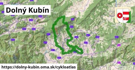ikona Dolný Kubín: 41km trás cykloatlas  dolny-kubin