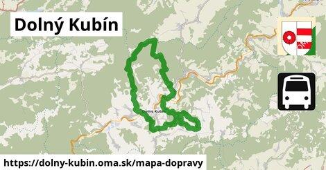 ikona Dolný Kubín: 13,2km trás mapa-dopravy  dolny-kubin