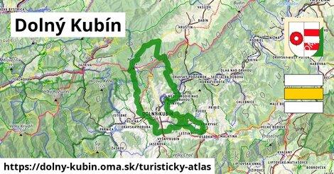ikona Dolný Kubín: 1,75km trás turisticky-atlas  dolny-kubin