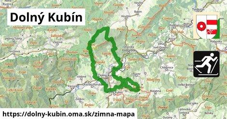 ikona Dolný Kubín: 9,1km trás zimna-mapa  dolny-kubin