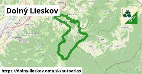 ikona Mapa autoatlas  dolny-lieskov