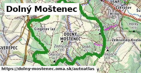 ikona Mapa autoatlas  dolny-mostenec