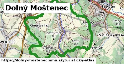 ikona Dolný Moštenec: 263m trás turisticky-atlas  dolny-mostenec