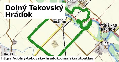 ikona Mapa autoatlas  dolny-tekovsky-hradok