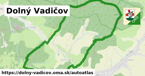 ikona Mapa autoatlas  dolny-vadicov