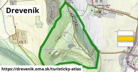 ikona Turistická mapa turisticky-atlas  drevenik