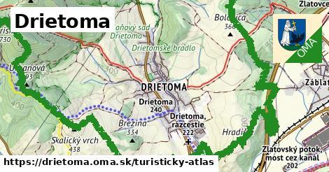 ikona Turistická mapa turisticky-atlas  drietoma
