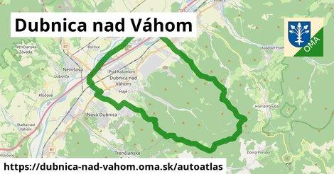 ikona Mapa autoatlas  dubnica-nad-vahom