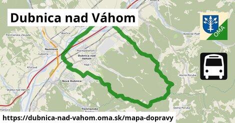 ikona Dubnica nad Váhom: 18km trás mapa-dopravy  dubnica-nad-vahom