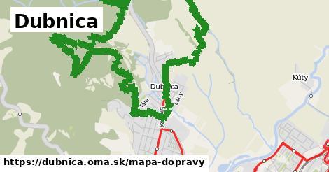 ikona Dubnica: 4,3km trás mapa-dopravy  dubnica
