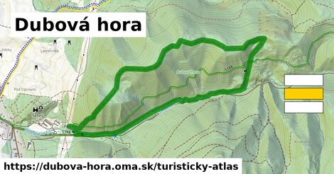 ikona Turistická mapa turisticky-atlas  dubova-hora