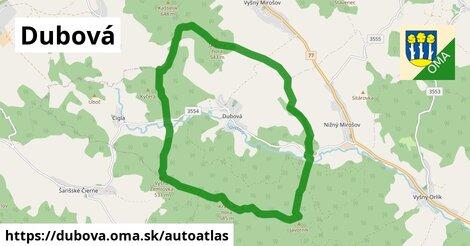 ikona Mapa autoatlas  dubova