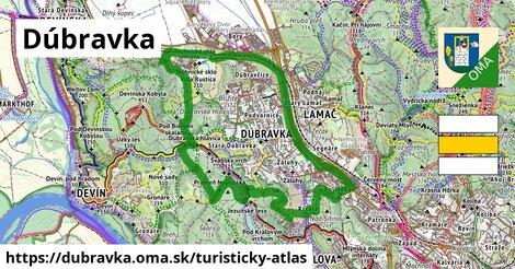 ikona Dúbravka: 12,2km trás turisticky-atlas  dubravka