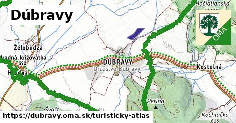 ikona Turistická mapa turisticky-atlas  dubravy