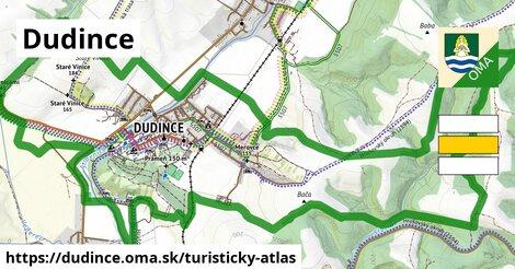 ikona Dudince: 1,08km trás turisticky-atlas  dudince