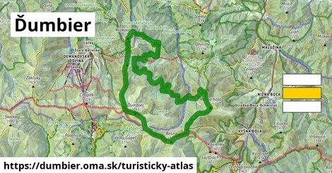 ikona Ďumbier: 20km trás turisticky-atlas  dumbier