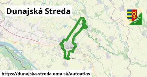 ikona Mapa autoatlas  dunajska-streda
