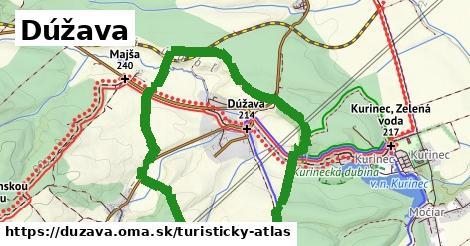 ikona Dúžava: 4,9km trás turisticky-atlas  duzava