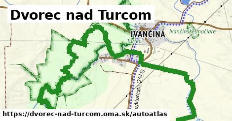 ikona Mapa autoatlas  dvorec-nad-turcom