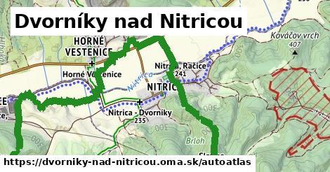 ikona Mapa autoatlas  dvorniky-nad-nitricou