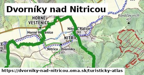 ikona Dvorníky nad Nitricou: 7,8km trás turisticky-atlas  dvorniky-nad-nitricou