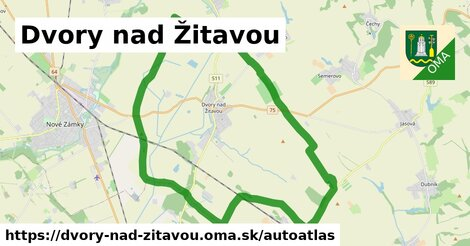 ikona Mapa autoatlas  dvory-nad-zitavou
