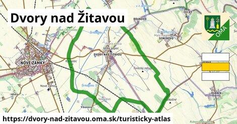 ikona Dvory nad Žitavou: 7,4km trás turisticky-atlas  dvory-nad-zitavou