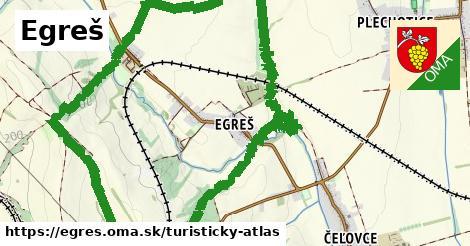ikona Egreš: 0m trás turisticky-atlas v egres
