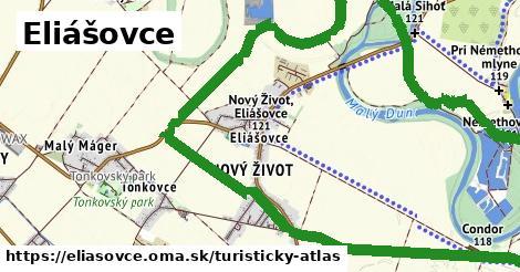 ikona Eliášovce: 8,1km trás turisticky-atlas v eliasovce