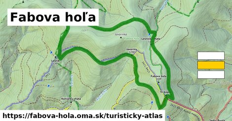 ikona Fabova hoľa: 8,1km trás turisticky-atlas  fabova-hola