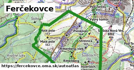 ikona Mapa autoatlas  fercekovce
