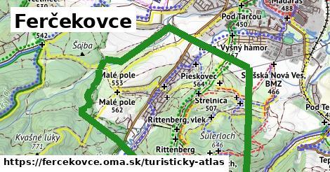 ikona Ferčekovce: 0m trás turisticky-atlas  fercekovce