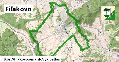 ikona Fiľakovo: 0,75km trás cykloatlas  filakovo