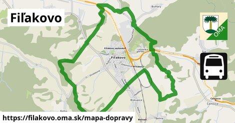 ikona Fiľakovo: 6,1km trás mapa-dopravy  filakovo