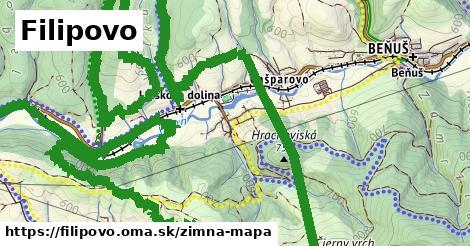 ikona Filipovo: 5,2km trás zimna-mapa  filipovo