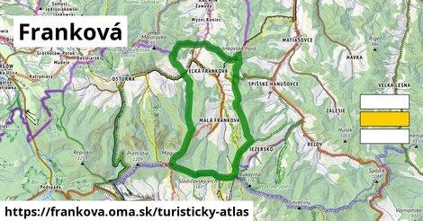 ikona Franková: 14,6km trás turisticky-atlas  frankova