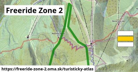 ikona Freeride Zone 2: 2,1km trás turisticky-atlas  freeride-zone-2