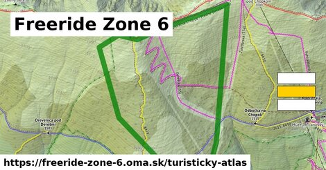 ikona Freeride Zone 6: 1,61 km trás turisticky-atlas  freeride-zone-6