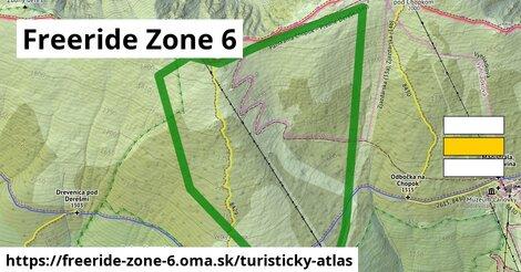ikona Freeride Zone 6: 1,61km trás turisticky-atlas  freeride-zone-6